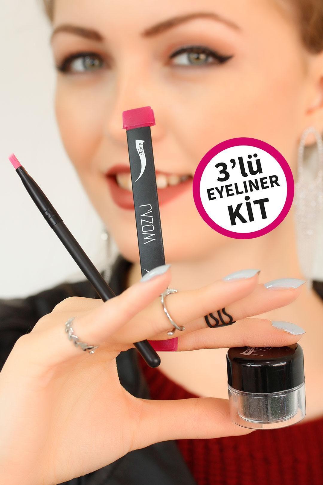 Wozaj Stamp 3 lü Eyeliner Kit