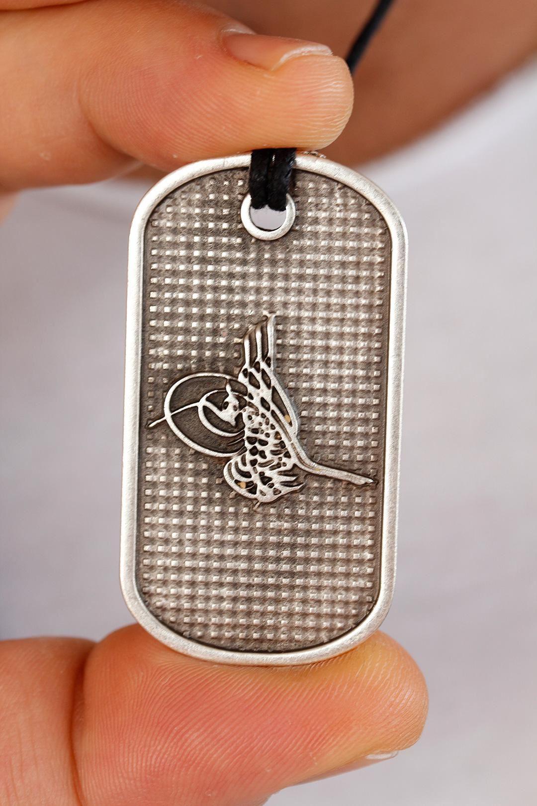 Metal Osmanlı Tuğra Künye Kolye