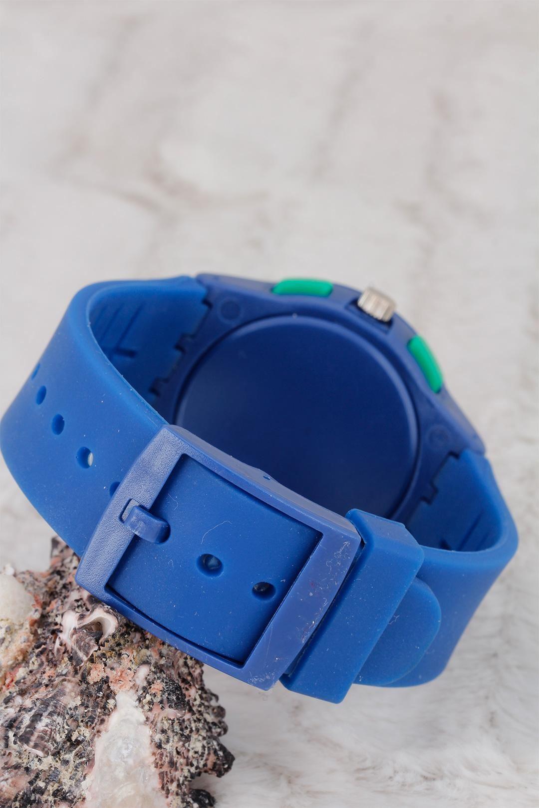 Lacivert Renk Silikon Kordonlu Bayan Saat
