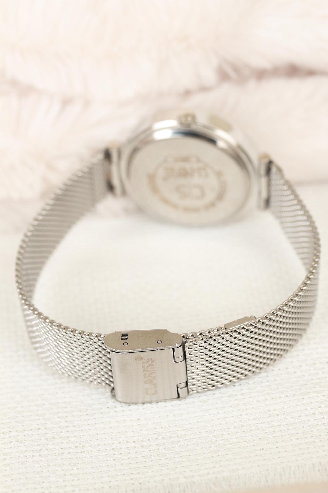 Clariss Marka Silver Hasır Metal Kordonlu Bayan Saat