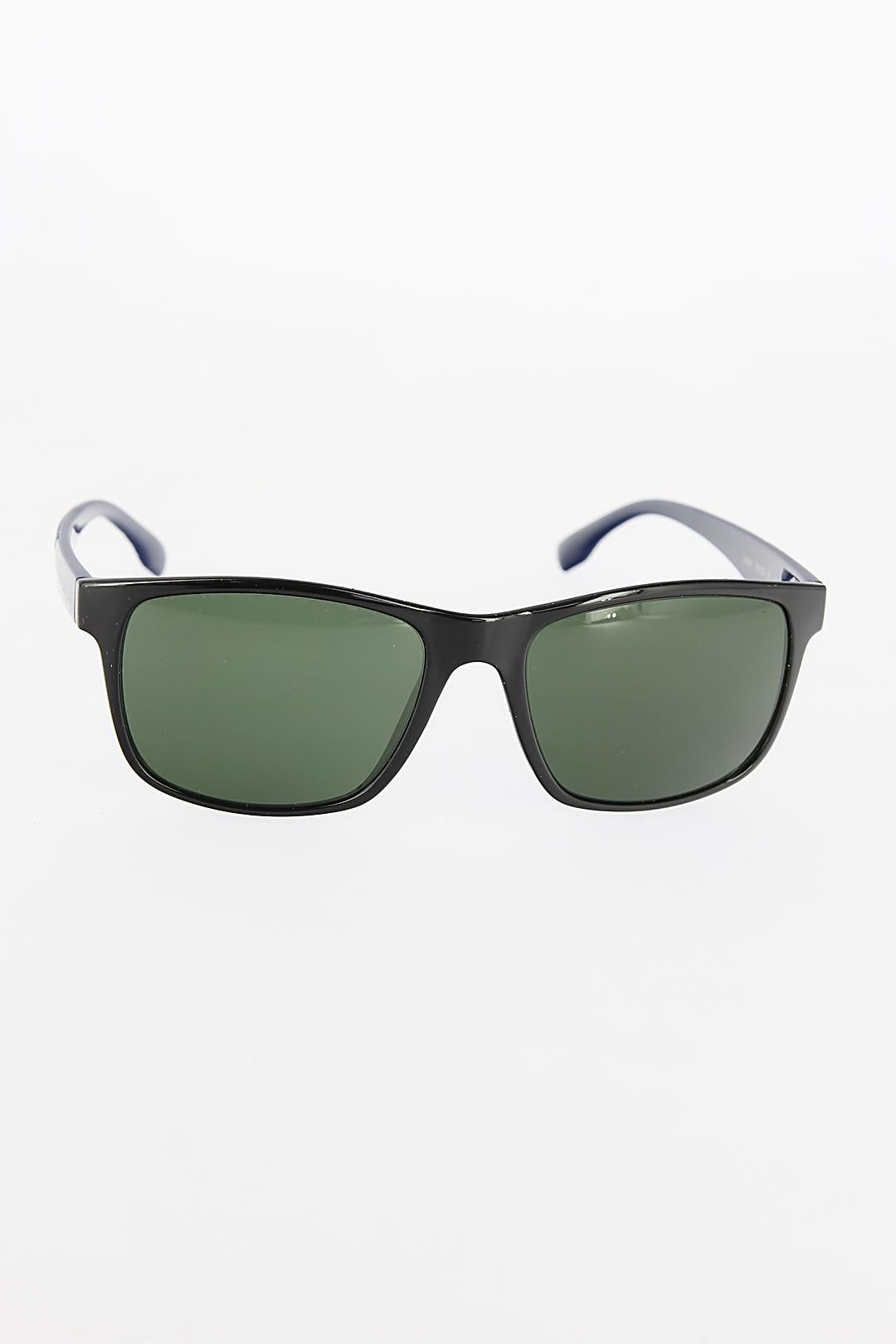 Siyah Dikdörtgen Yeşil Renk Camlı Çerçeveli Erkek Güneş Gözlüğü