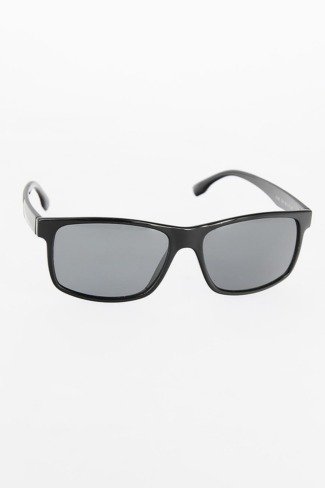 Siyah Renk Dikdörtgen Çerçeveli Erkek Güneş Gözlüğü