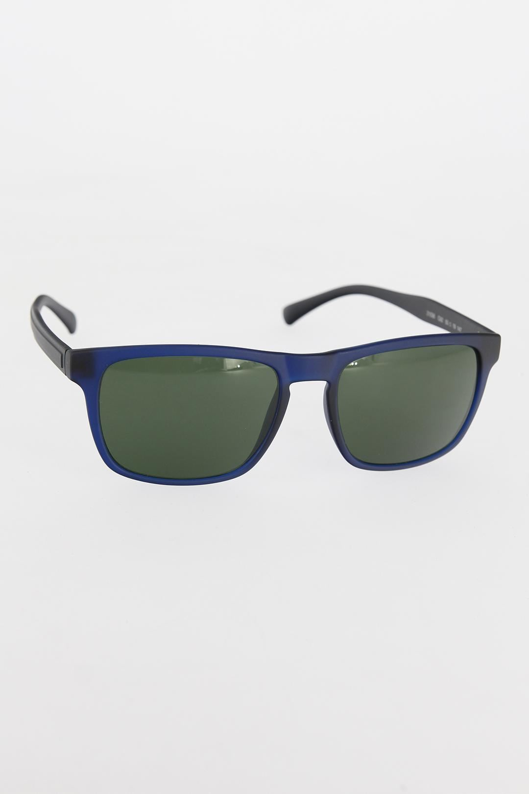Lacivert Çerçeveli Yeşil Camlı Erkek Güneş Gözlüğü