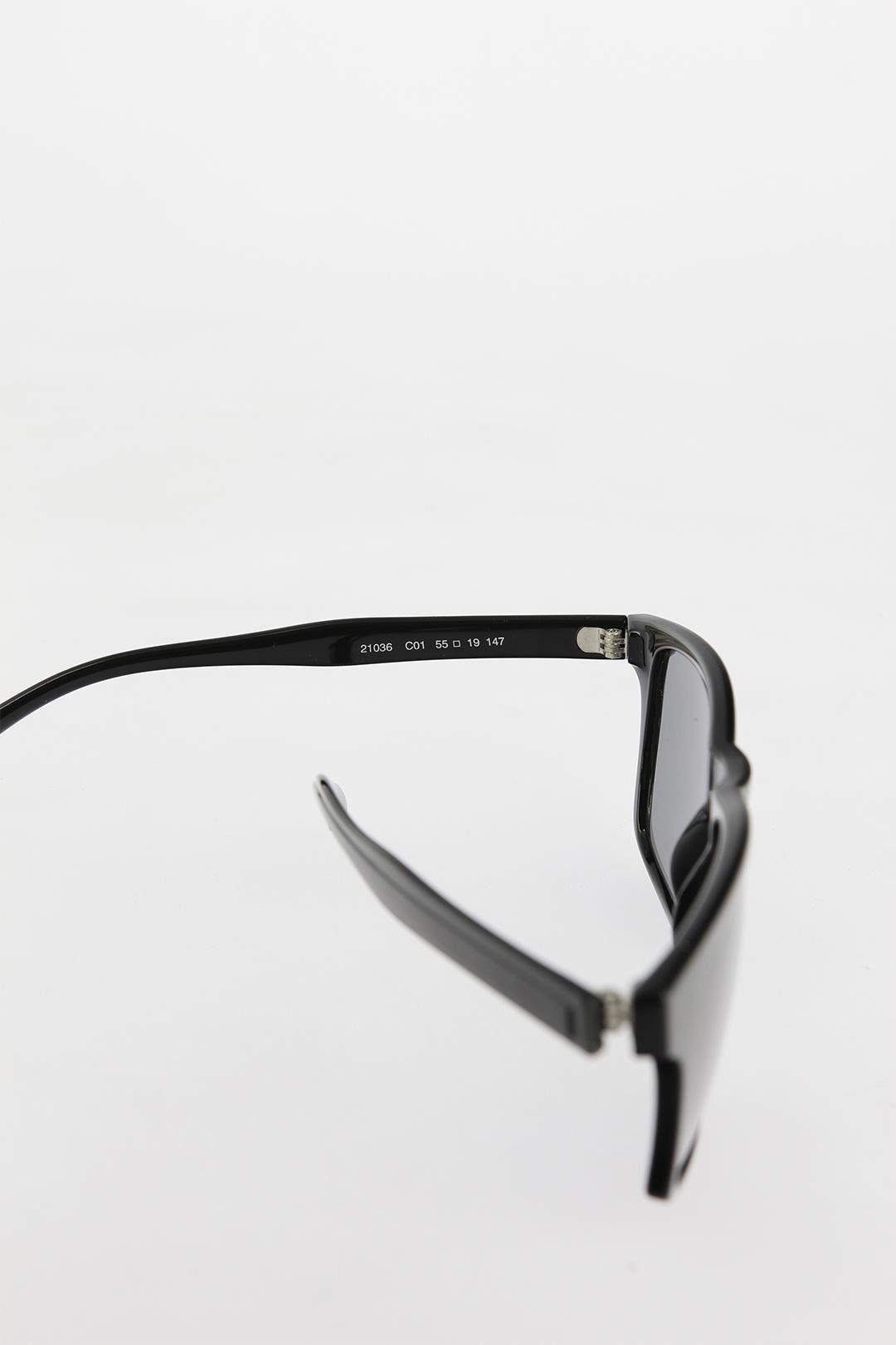 Siyah Çerçeveli Koyu Gri Camlı Erkek Güneş Gözlüğü