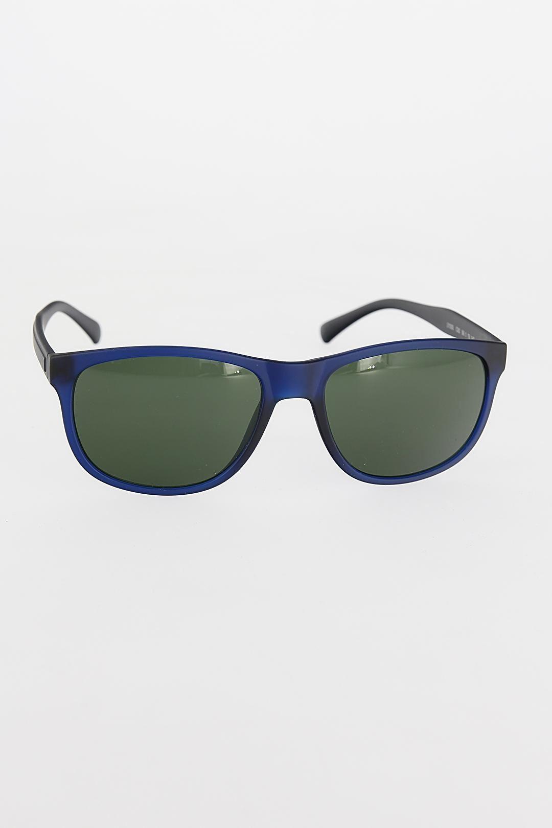 Lacivert Renk Çerçeveli Yeşil Camlı Erkek Güneş Gözlüğü