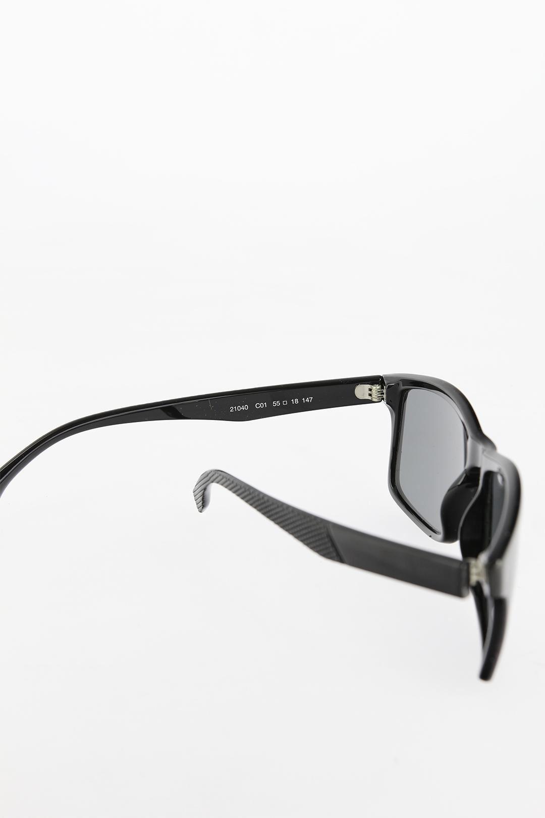 Siyah Kare Çerçeveli Erkek Güneş Gözlüğü