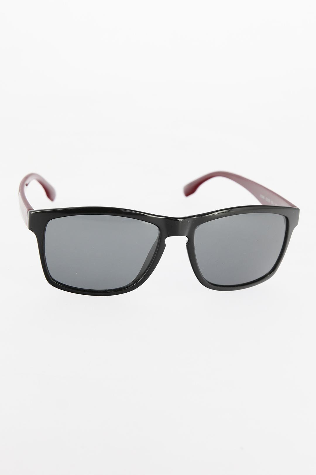 Siyah Çerçeveli Bordo Saplı Erkek Güneş Gözlüğü