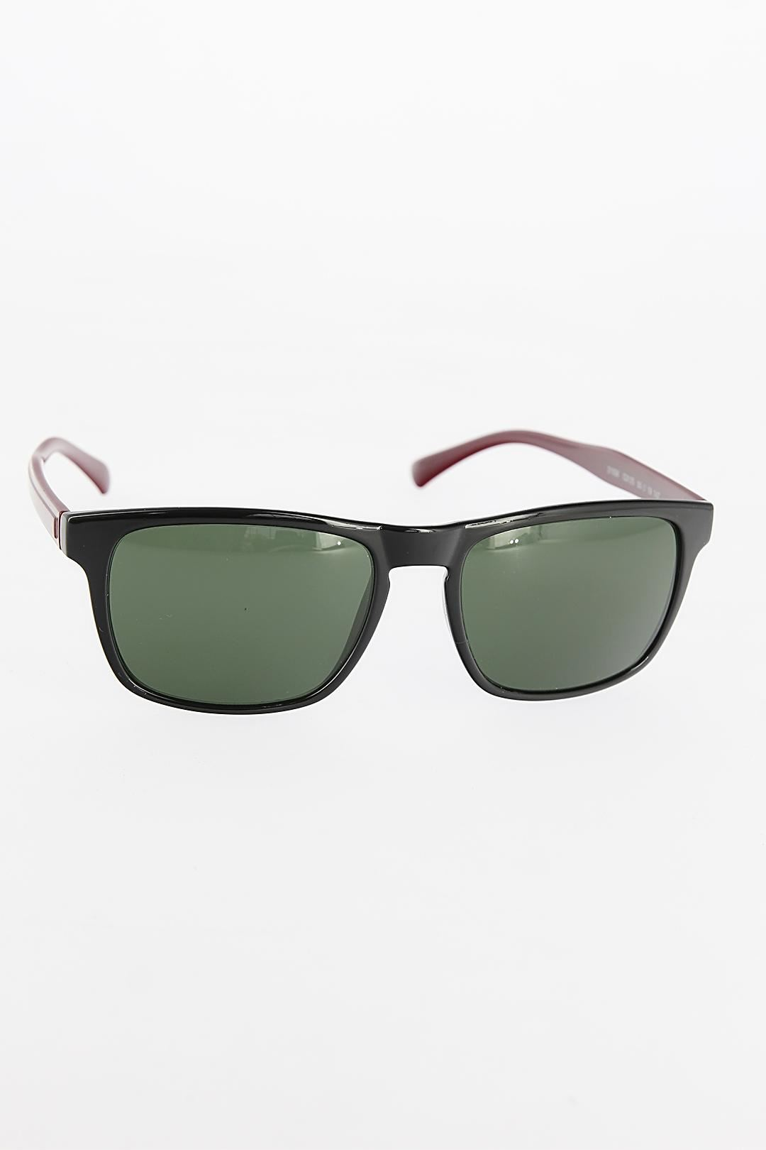 Siyah Renk Çerçeveli Bordo Saplı Erkek Güneş Gözlüğü