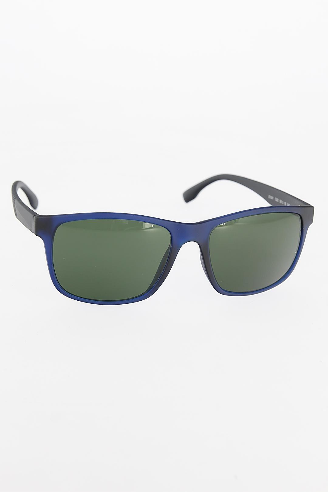 Lacivert Çerçeveli Siyah Saplı Erkek Güneş Gözlüğü