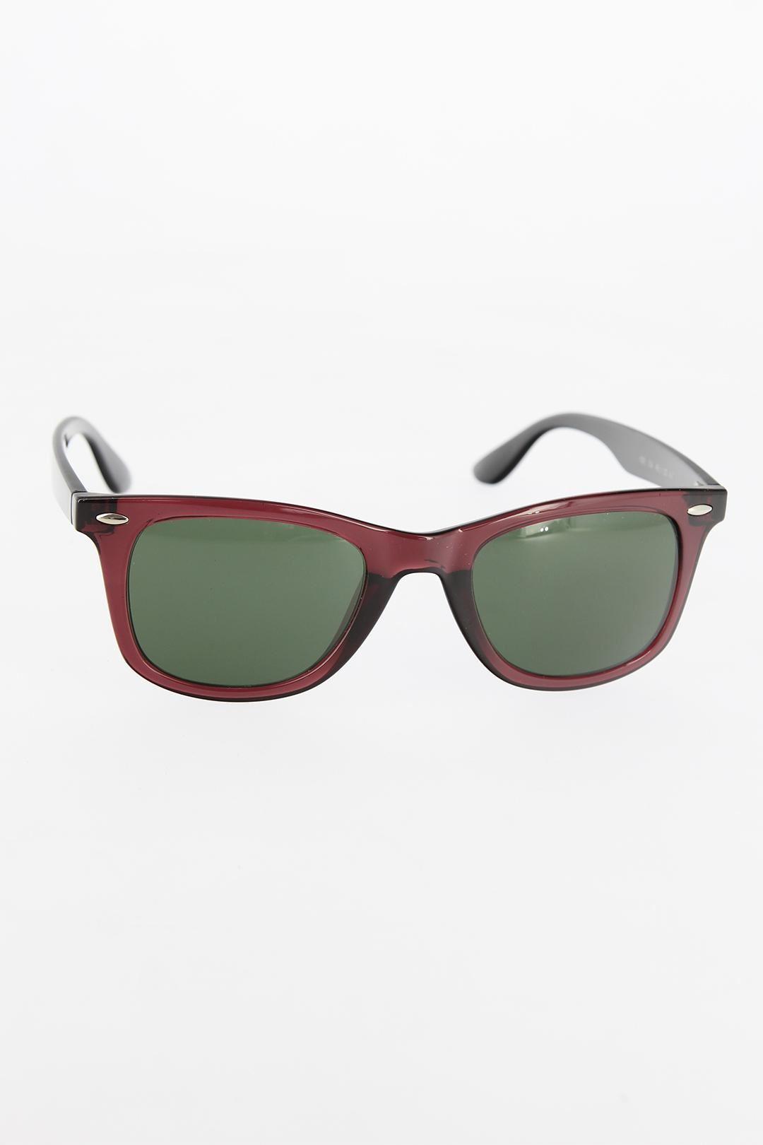 Bordo Kare Çerçeveli Erkek Güneş Gözlüğü