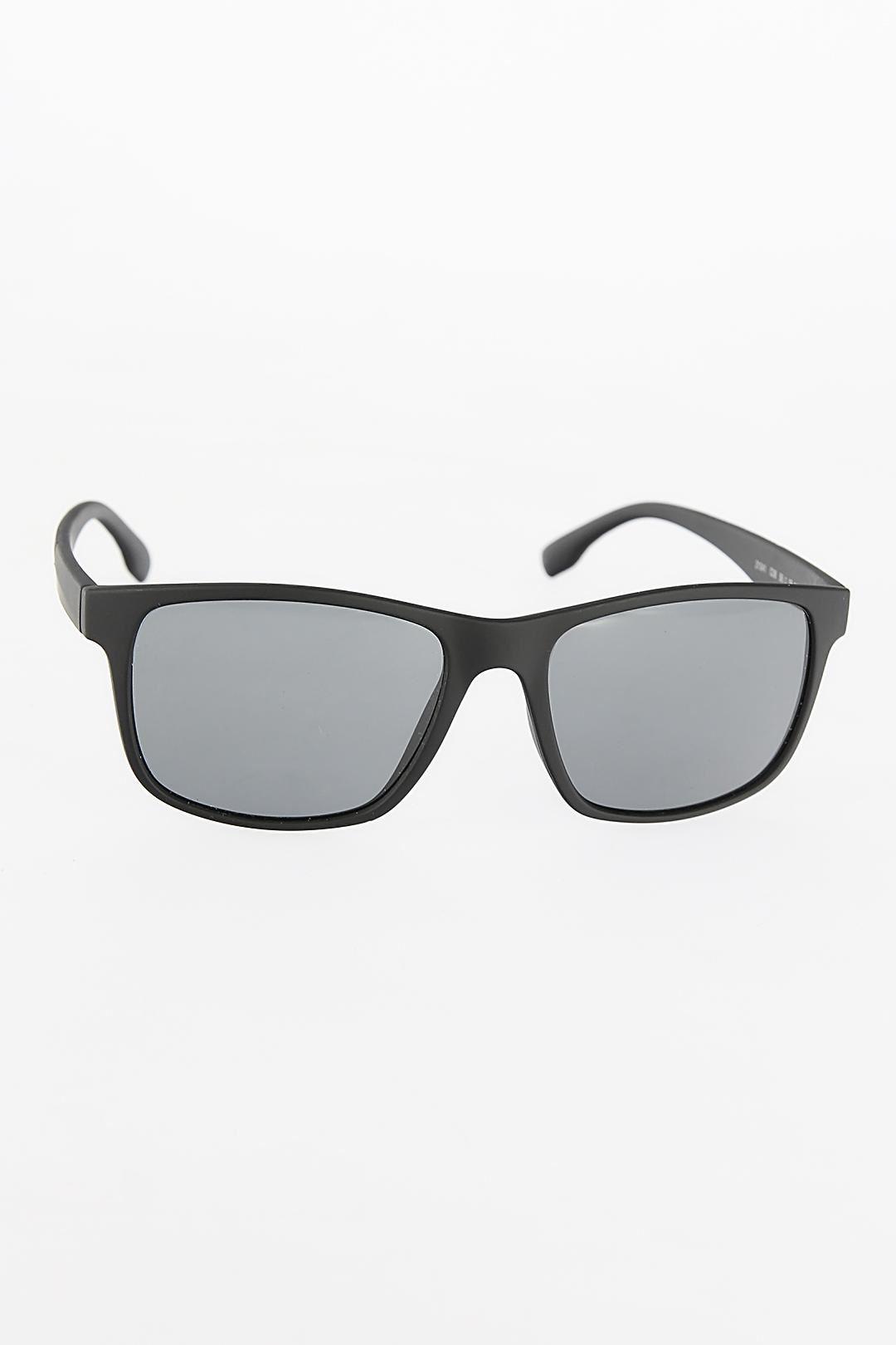Mat Siyah Dikdörtgen Çerçeveli Erkek Güneş Gözlüğü