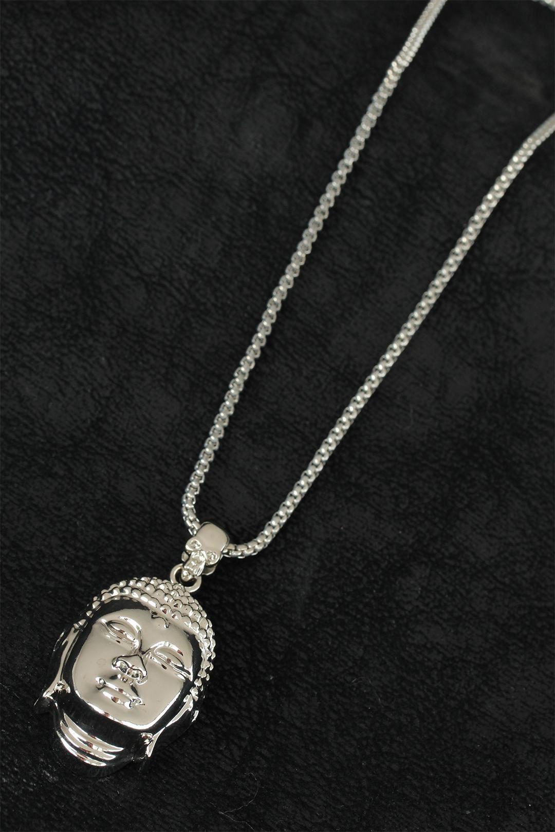 Buda Tasarım Silver Renk Zincirli Erkek Kolye
