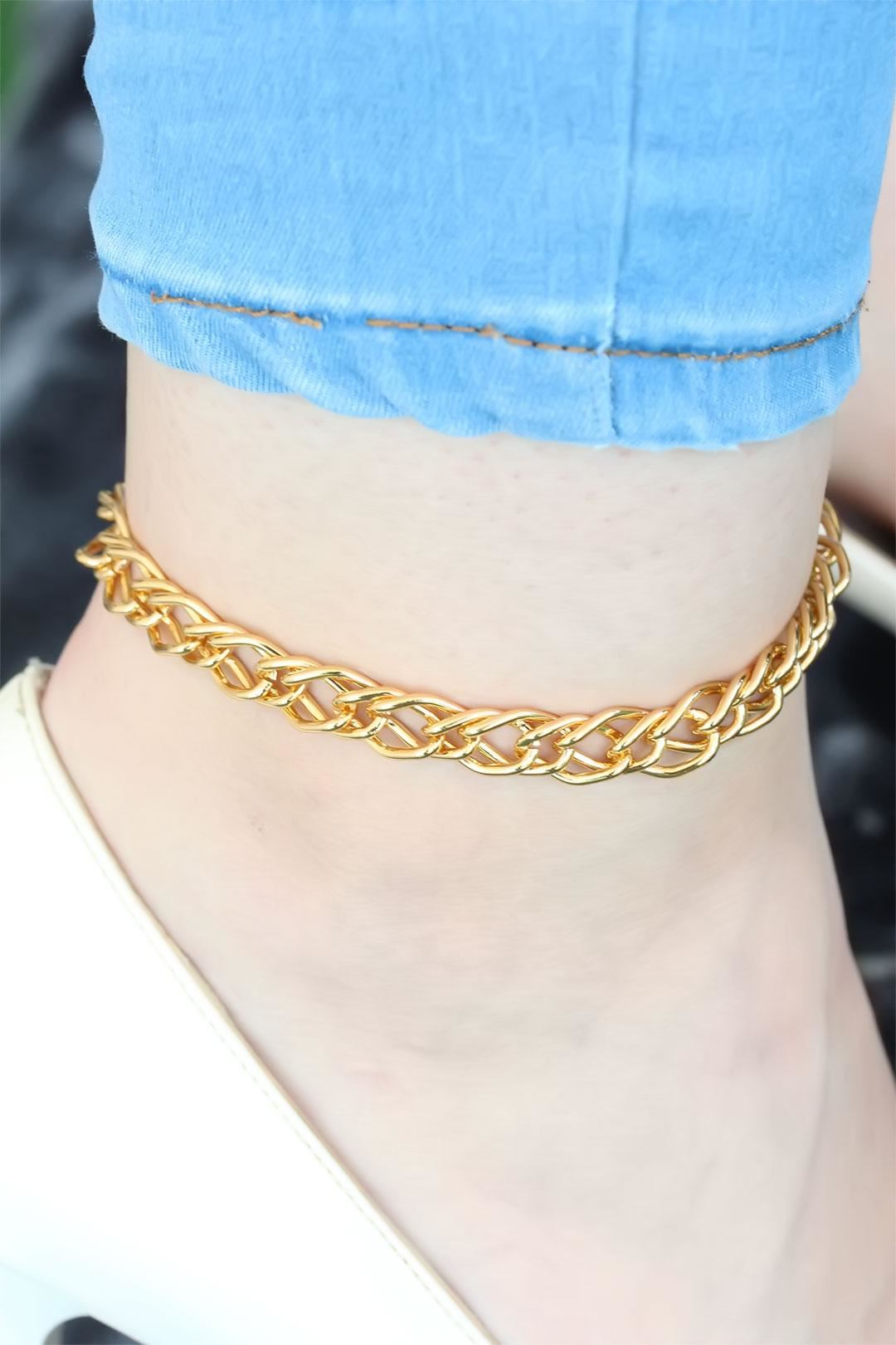 Gold Renkli Metal Zincir Halhal