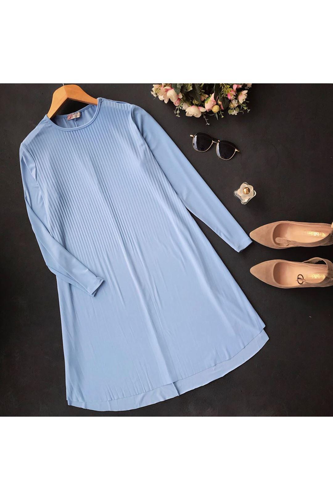 Sandy Kumaş Mavi Kadın Tunik 1232661