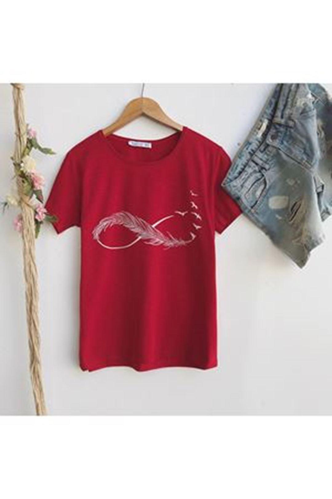 Sonsuzluk Baskılı T-shirt 1229121