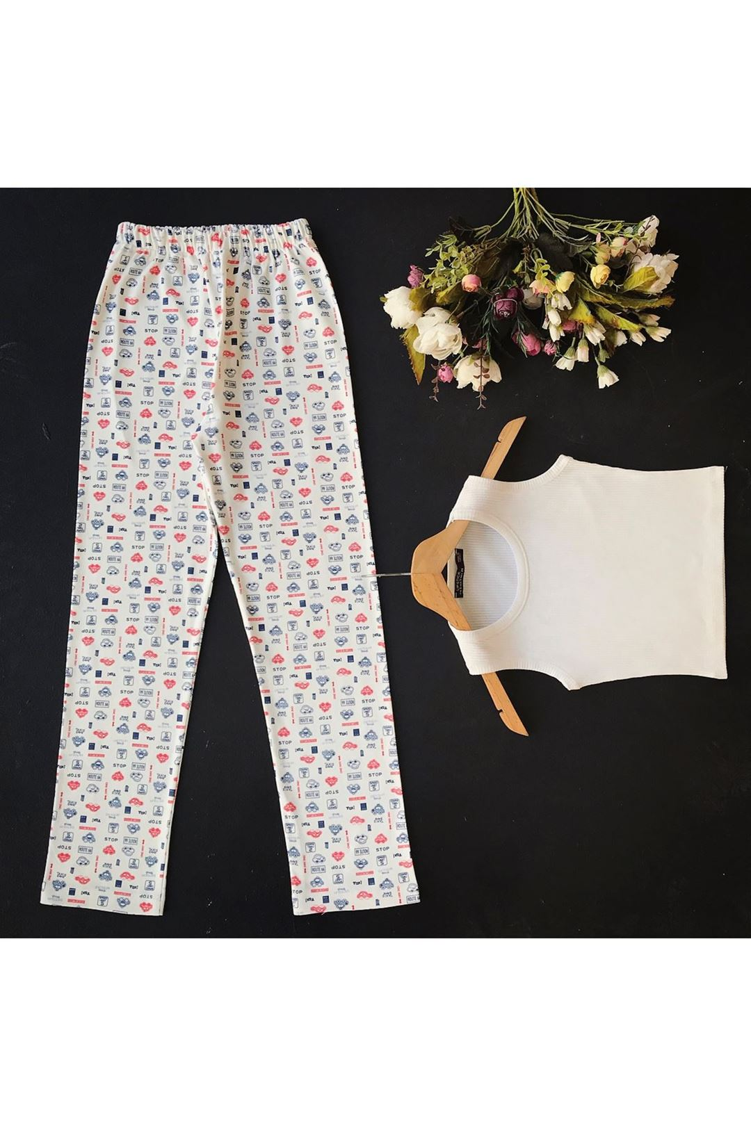 Baskılı Kadın Alt Pijama 1227651