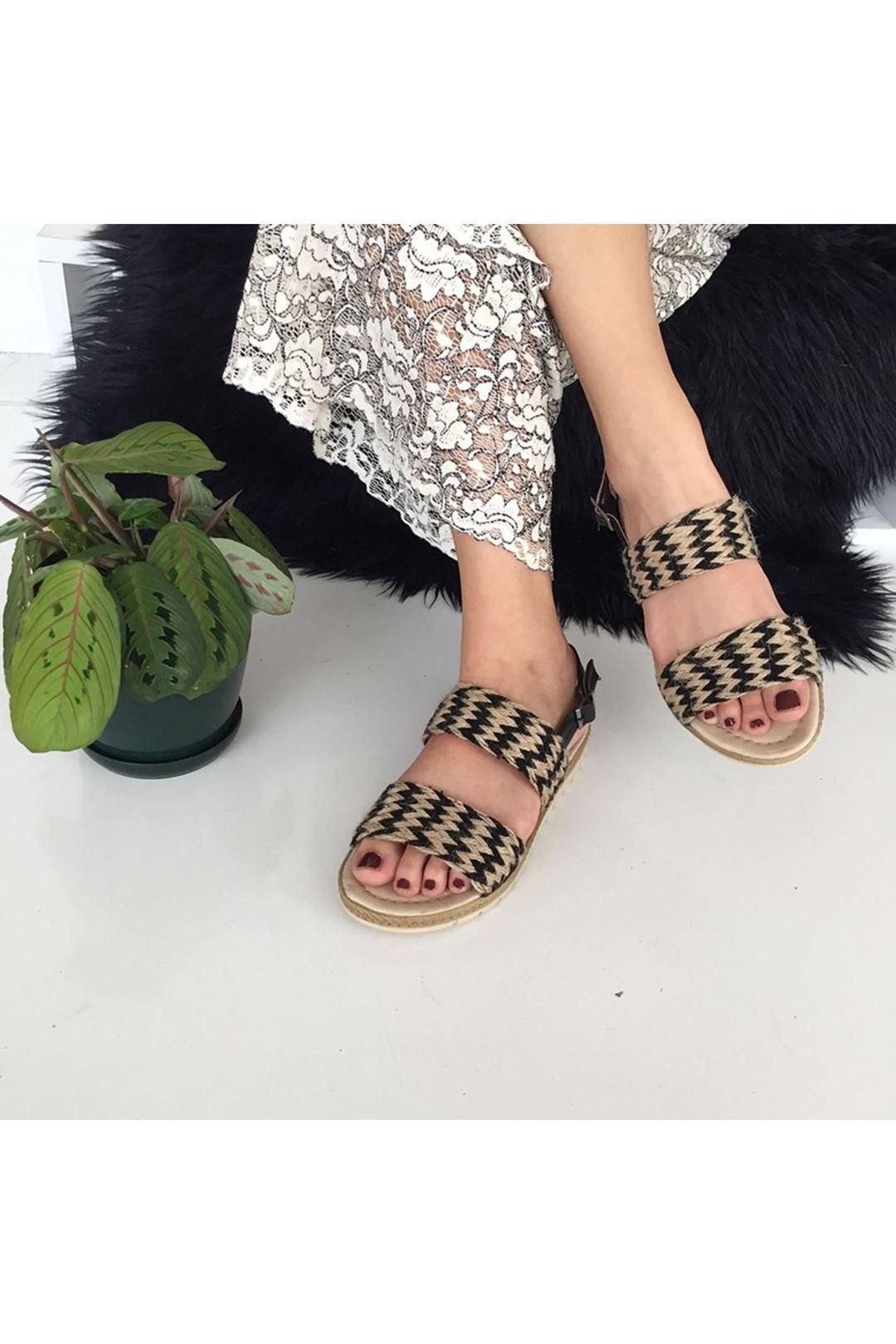 Hasır Kadın Sandalet 1227231