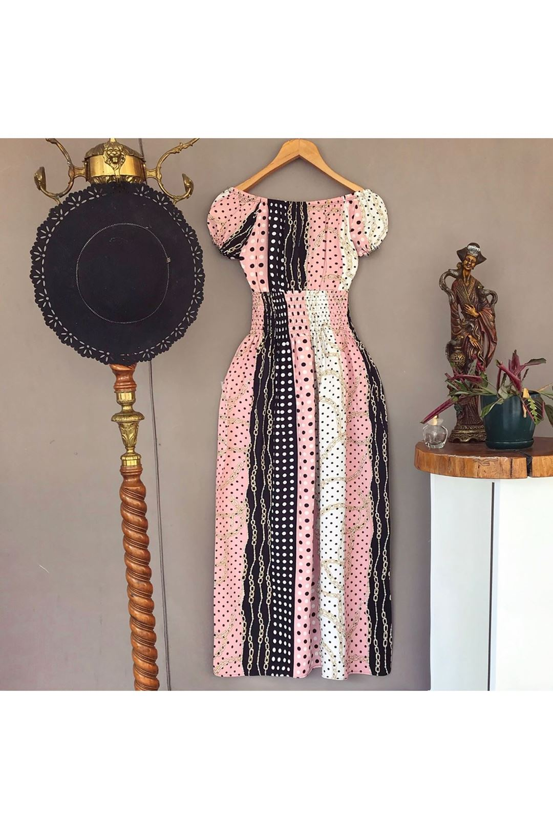 Madonna Yaka Midi Boy Kadın Elbise 1226661