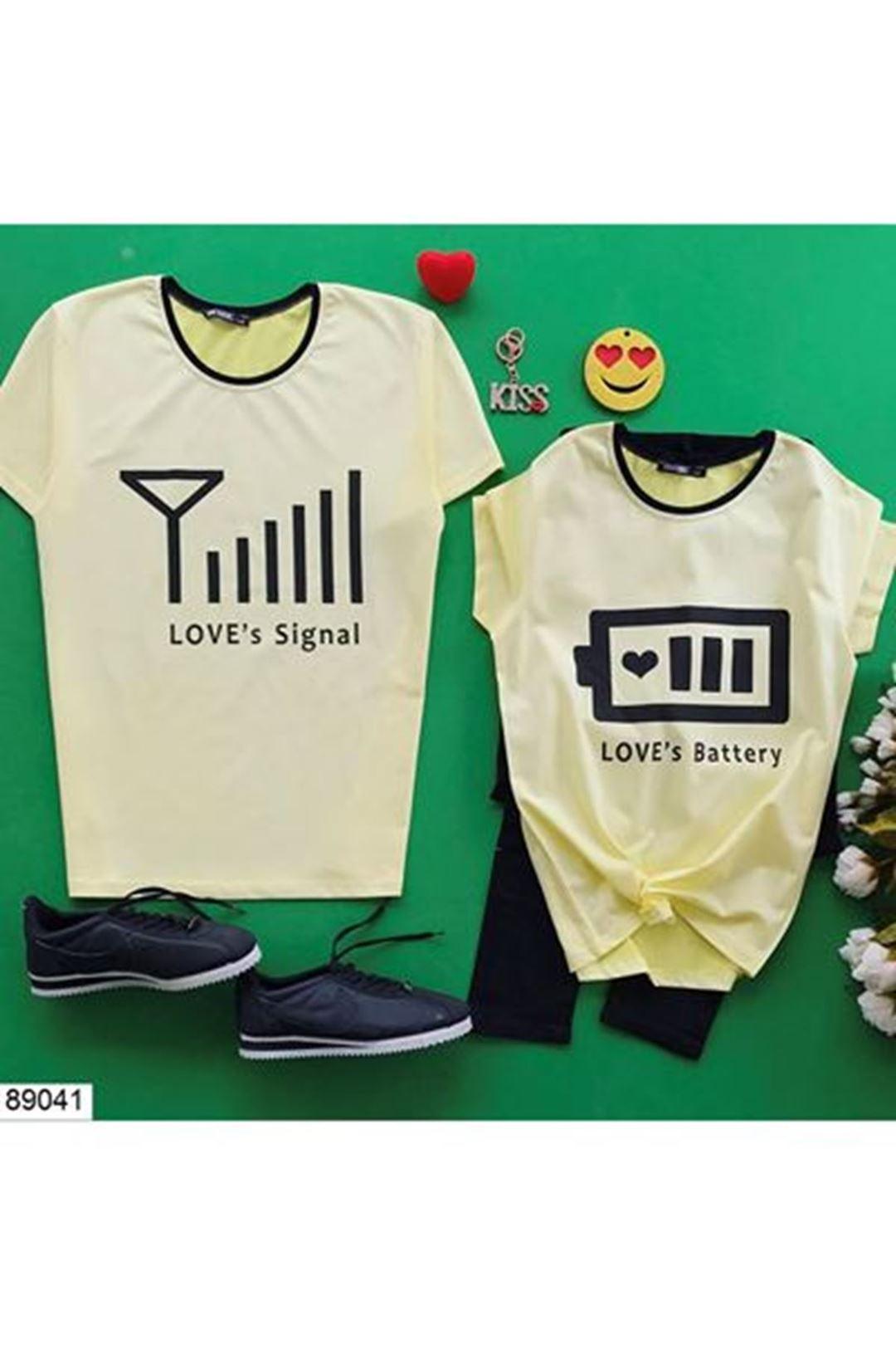 Baskılı Sarı Kadın T-Shirt 89041
