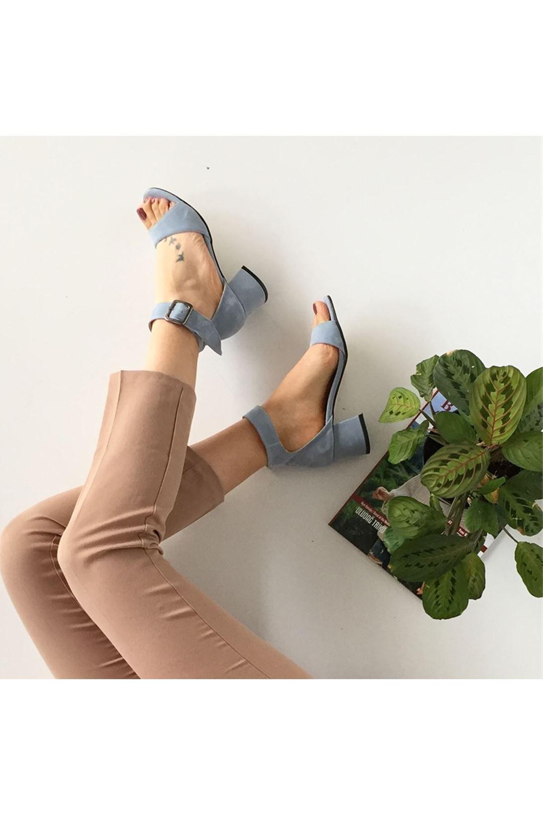 Kemerli Topuklu Cilt Kadın Ayakkabı 1200201