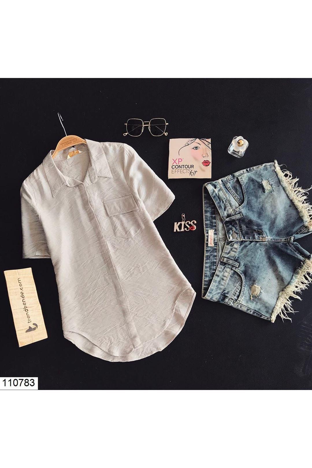 Cepli Taş Kadın Gömlek 110783