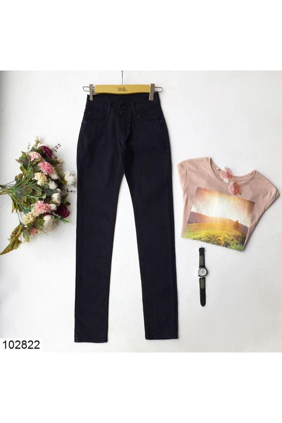 Siyah  14-15 Yaş Kız Çocuk Pantolon 102822