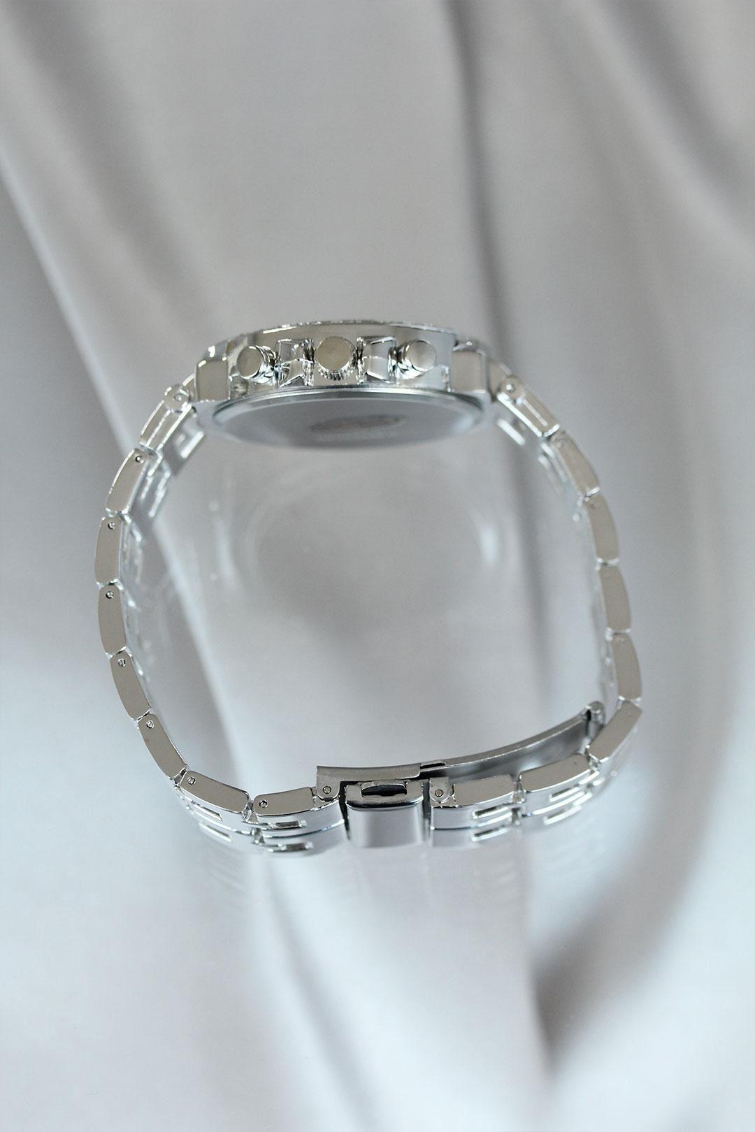 Gümüş Renk Zirkon Taşlı Metal Kadın Saat