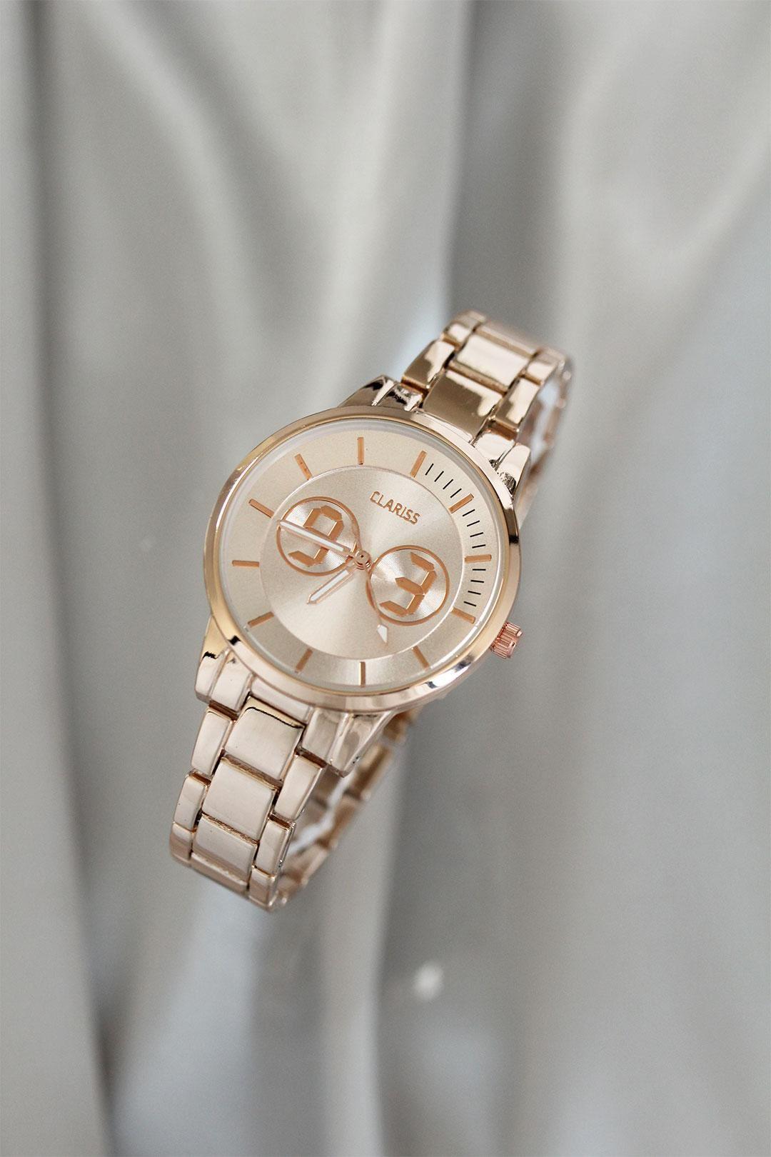 Clariss Marka Rose Renkli Metal Kadın Saat