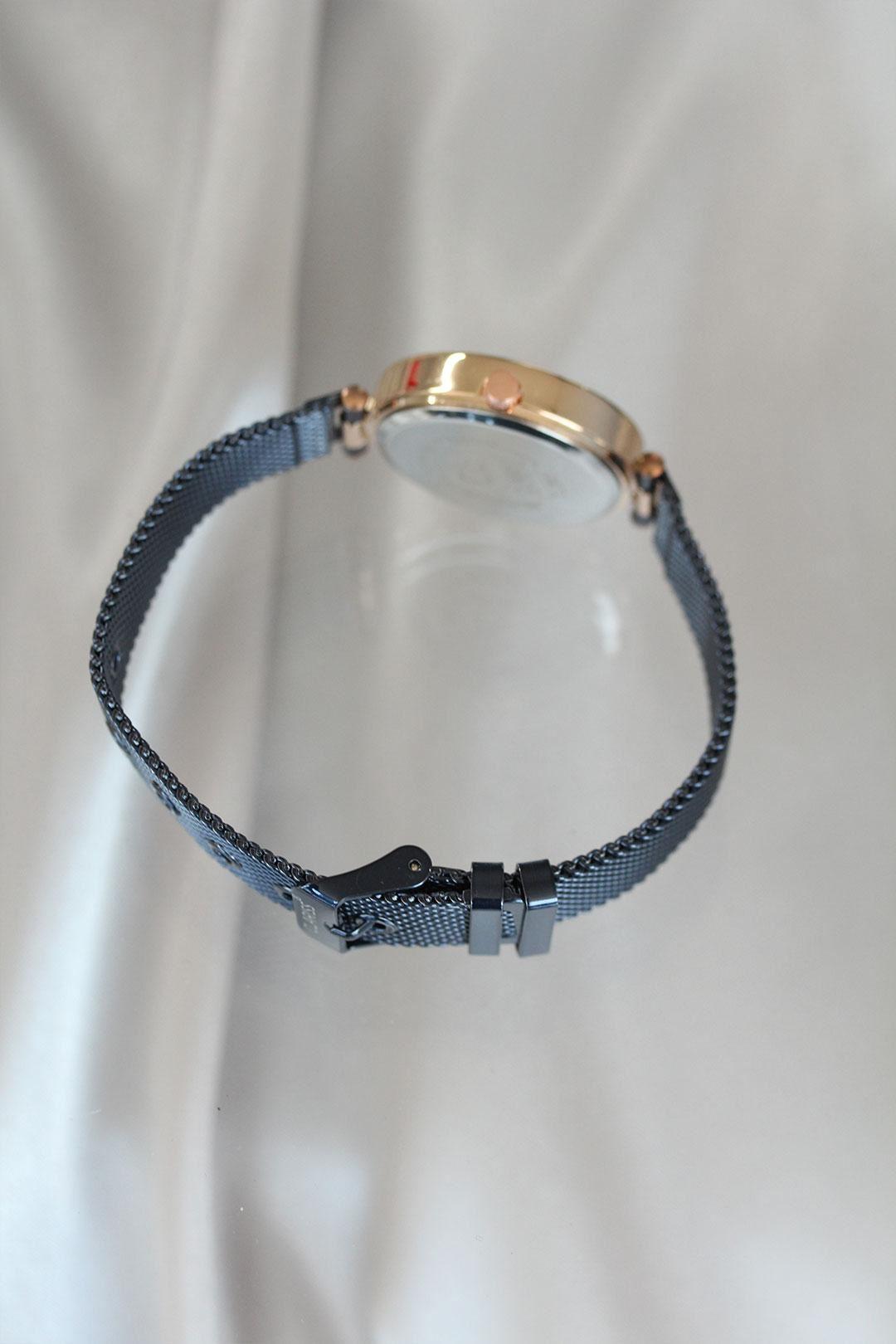 Clariss Marka Lacivert Renk Hasır Metal Kordonlu Kadın Saat