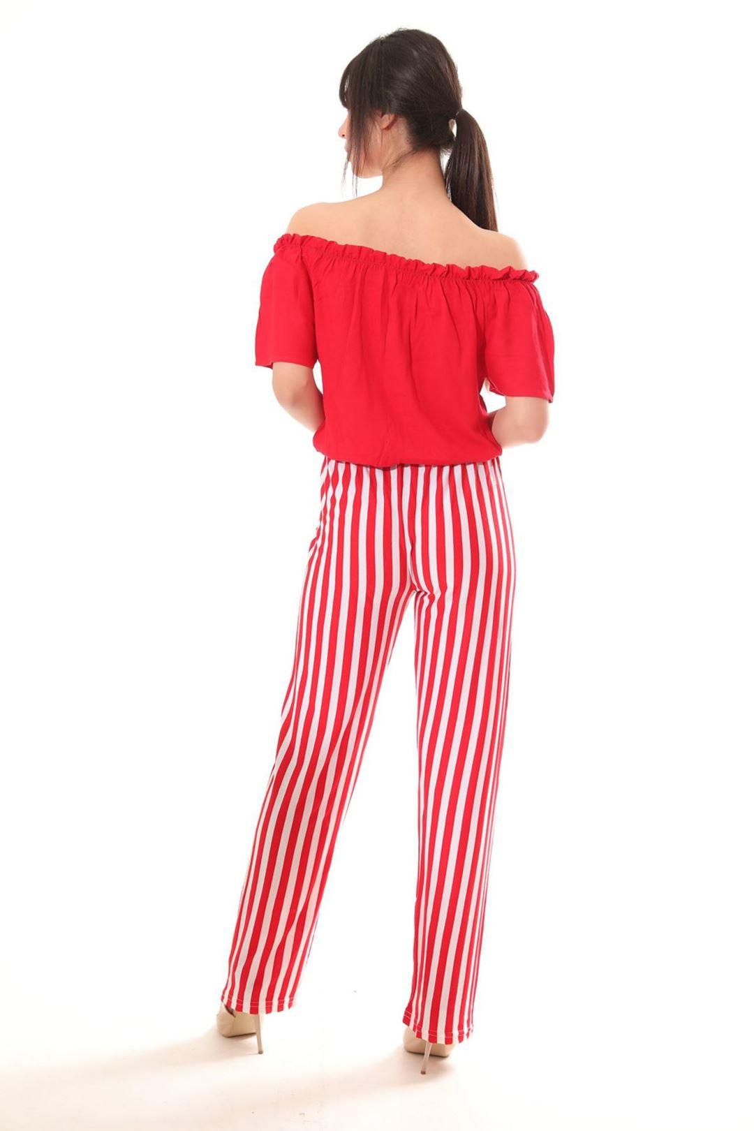 Salaş Pantolonlu İkili Takım Kırmızı