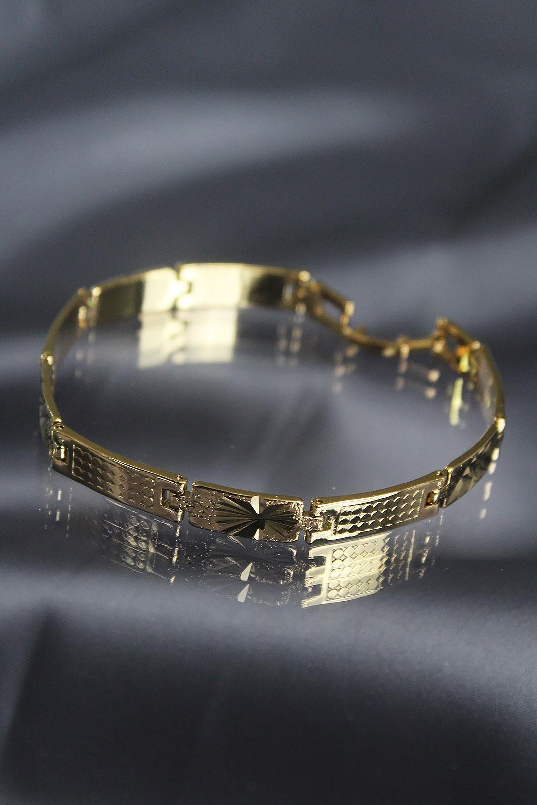 Gold Renkli Çelik Erkek Bileklik