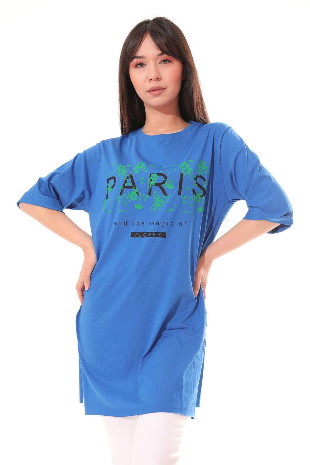 Paris Baskılı Tunik Saksmavisi