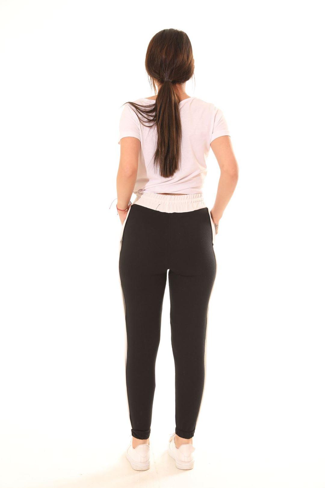 Yanı Çıtçıtlı Mom Pantolon Siyah