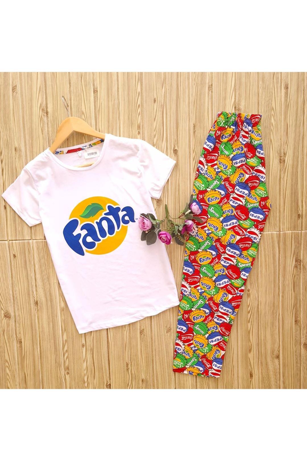 Kısa Kollu Pijama Takımı
